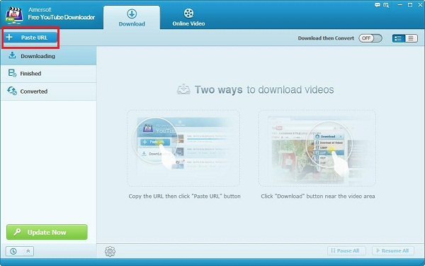 Aimersoft Free YouTube Downloader Caputure