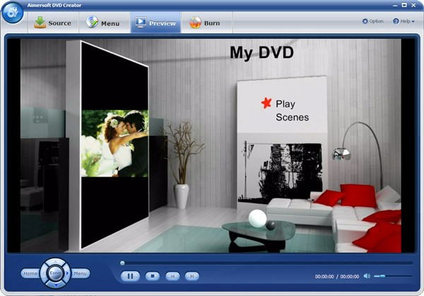 aimersoft dvd creator preview